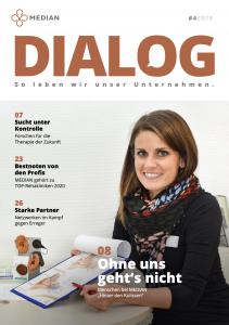 Titelseite MEDIAN Mitarbeitermedium Dialog